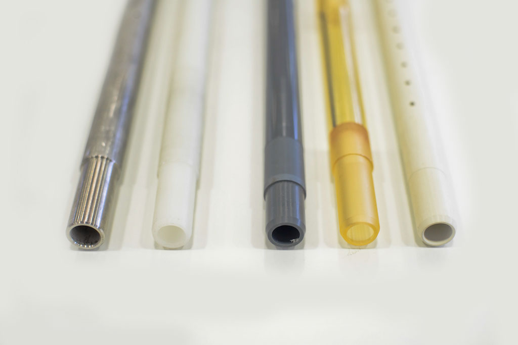 DIFFERENT MATERIAL AND DIMENSION OF THE TUBE